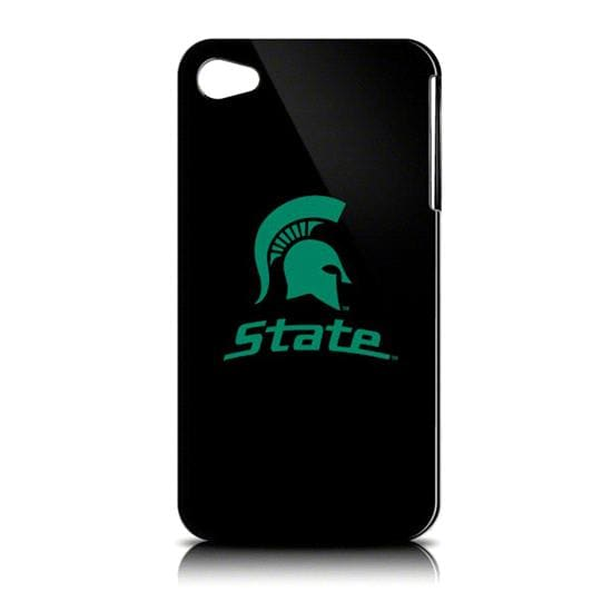 Michigan State Spartans iPhone 4 Case: Black Shell