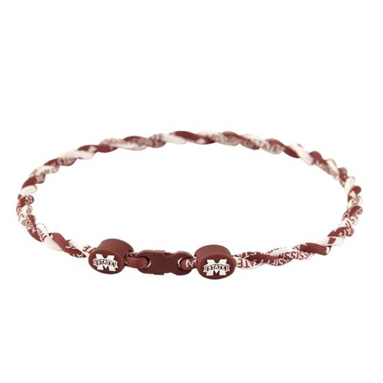 Mississippi State Bulldogs Twist Titanium Necklace