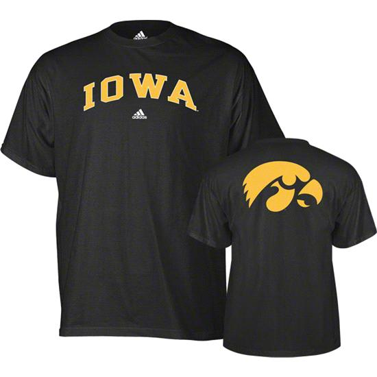 Iowa Hawkeyes adidas Black Relentless T-Shirt