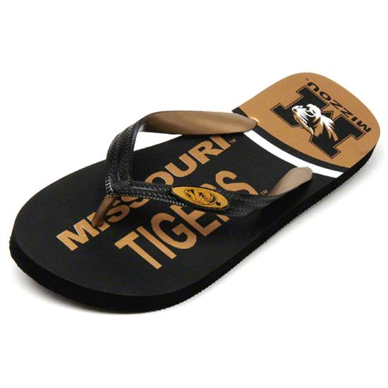 Missouri Tigers Zori Flip Flops