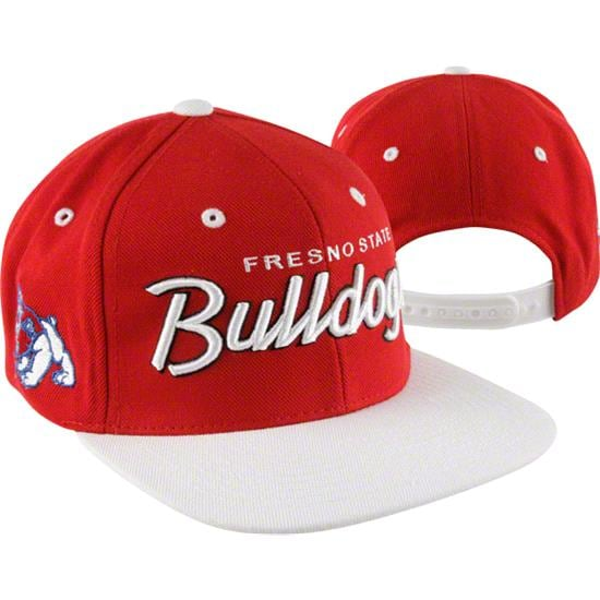 Fresno State Bulldogs Scarlet/White Headliner 2Tone Snapback Adjustable Hat