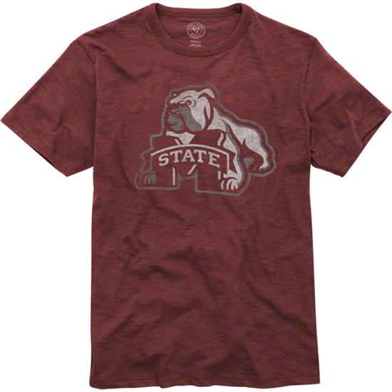 Mississippi State Bulldogs Maroon '47 Brand Scrum Basic T-Shirt