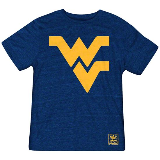 West Virginia Mountaineers Heather Navy adidas Originals The Balboa Tri-Blend T-Shirt