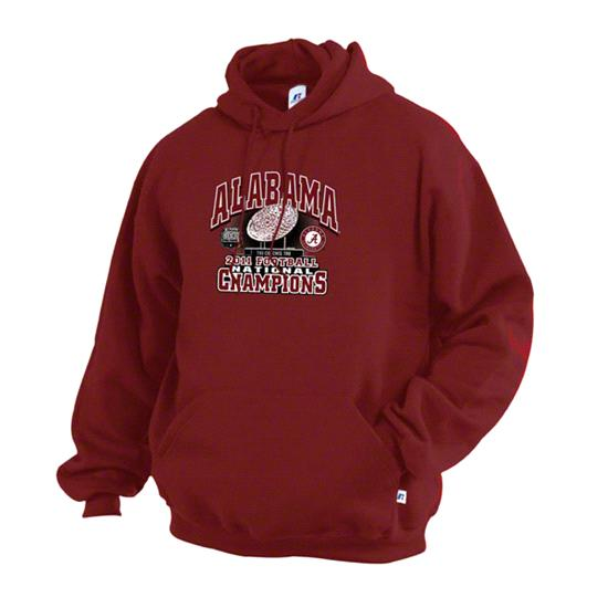 Alabama Crimson Tide Crimson 2011 BCS Football National Champions Coaches Trophy Hooded Sweatshirt