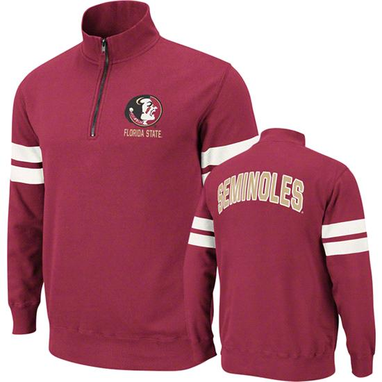 Florida State Seminoles Burgundy Flex 1/4 Zip Fleece Sweatshirt