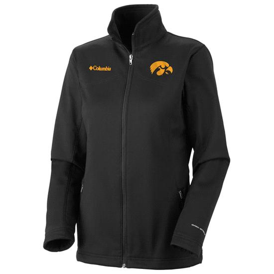 Iowa Hawkeyes Women's Black Columbia Kruser Ridge Softshell Jacket