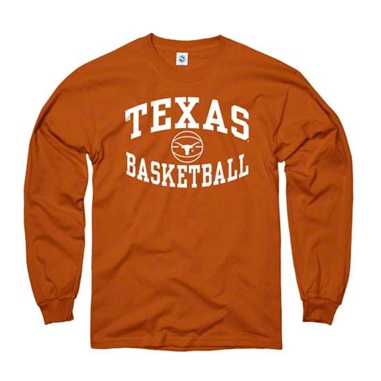 Texas Longhorns Dark Orange Reversal Basketball Long Sleeve T-Shirt