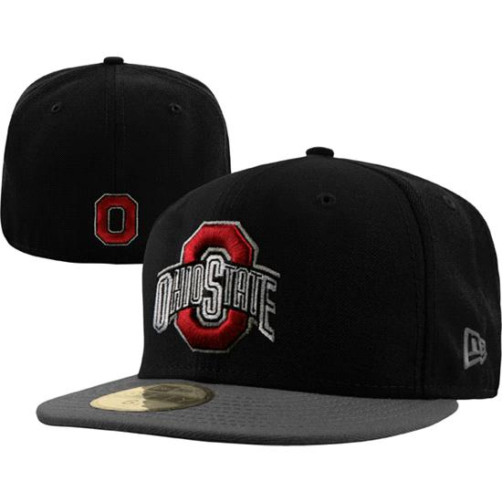 Ohio State Buckeyes New Era Black/Graphite 59FIFTY Fitted Hat