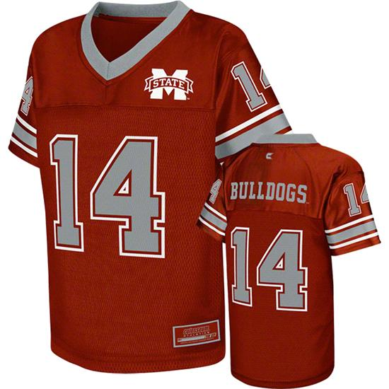 Mississippi State Bulldogs Kids 4-7 Maroon Stadium Football Jersey